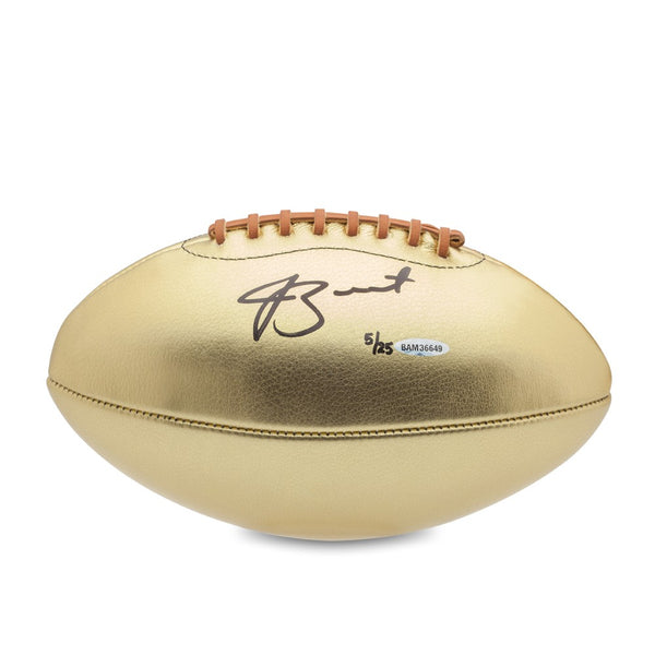 Jameis Winston Autographed Gold Leather Head Football