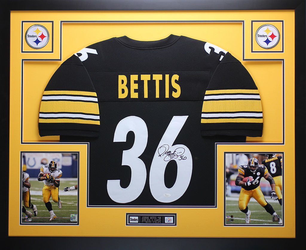 d5545f258 Jerome Bettis Autograph Nameplate Pittsburgh Steelers Autograph Helmet Jersey  Display Cases