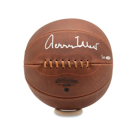 Jerry West Autographed Naismith Leather Head Basketball