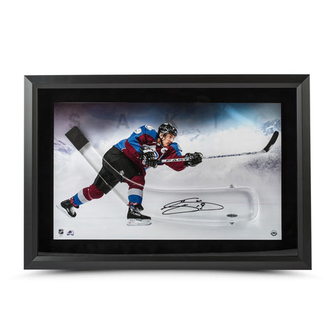 Joe Sakic Autographed Acrylic Hockey Stick Rockies Blade