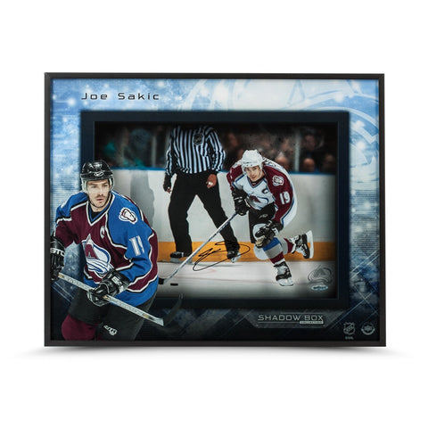 Joe Sakic Autographed Captain Avalanche Shadow Box