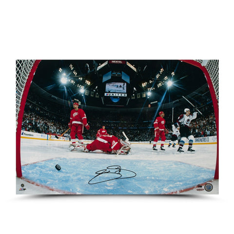 Joe Sakic Autographed Goal Celebration 16 x 24 Photo
