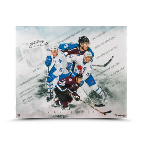 "Joe Sakic Autographed ""Super Joe"" 20 x 24 Photo"