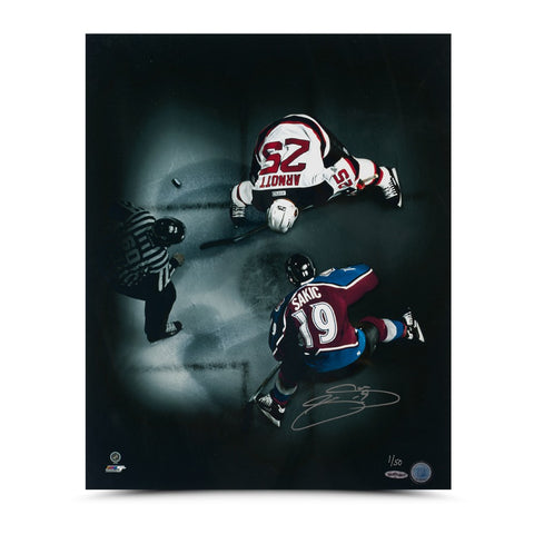 "Joe Sakic ""Faceoff"" 16 x 20 Photo"
