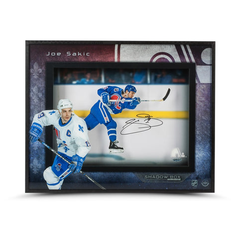 Joe Sakic Young Gun Shadow Box
