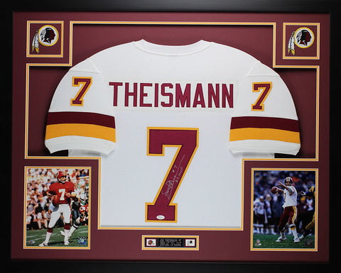 Joe Theismann Autographed 83 MVP and Framed White Redskins Jersey JSA COA (D3-L)