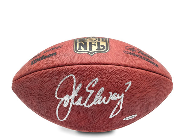 John Elway Autographed Authentic Wilson Football