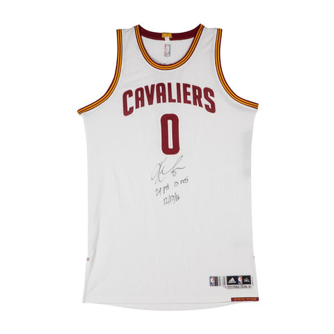 eecff1c4d33 Kevin Love Autographed & Inscribed Cleveland Cavaliers Adidas Authentic  White Game-Worn Jersey