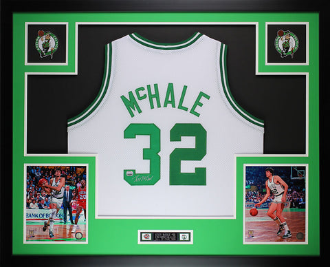 Kevin McHale Autographed and Framed White Celtics Jersey Auto MM COA (D1-L)