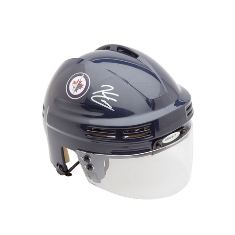 Kyle Connor Autographed Winnipeg Jets Navy Mini Helmet