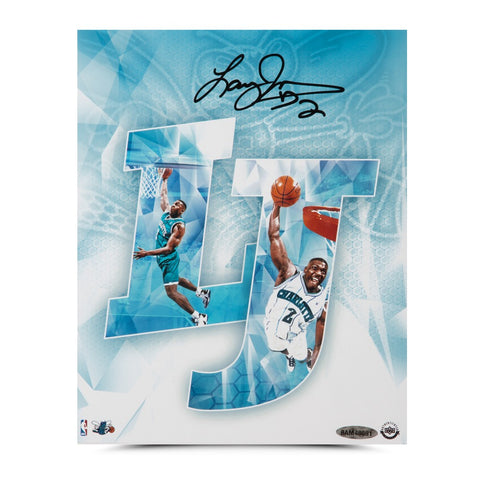 "Larry Johnson Autographed ""LJ"" 8 x 10"