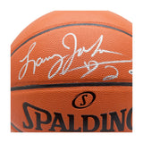 Larry Johnson Autographed Spalding Indoor/Outdoor Basketball