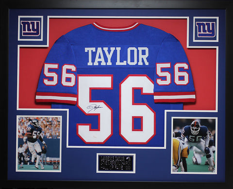 Lawrence Taylor Autographed and Framed Blue Giants Jersey Auto JSA COA 9e86d43ff