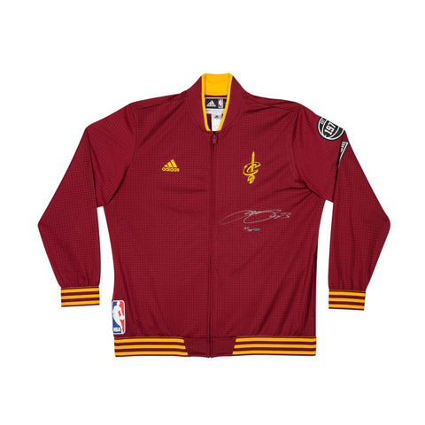 LeBron James Autographed Cleveland Cavaliers Adidas Warmup Jacket