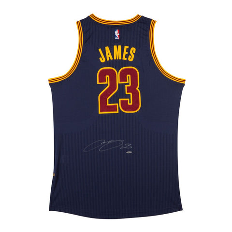 LeBron James Autographed Cleveland Cavaliers Alternate Blue Authentic Adidas Jersey