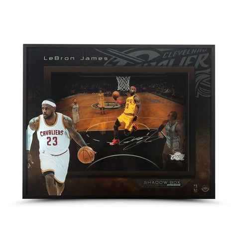 "LeBron James Autographed ""Liftoff"" 16 x 20 Shadow Box"