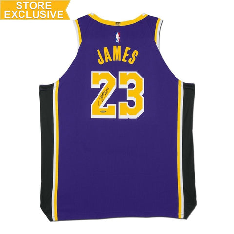 LEBRON JAMES AUTOGRAPHED LOS ANGELES LAKERS STATEMENT EDITION AUTHENTIC NIKE JERSEY