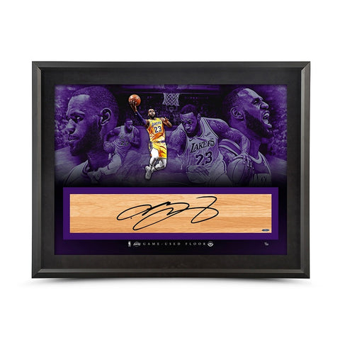 "LeBron James Autographed NBA Game-Used Floor ""It's Time"" 36 x 24"