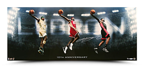 LeBron James Autographed Photo Transition 10th Anniversary