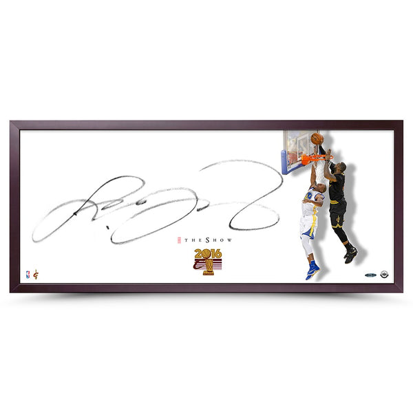 "LeBron James Autographed The Show ""The Block"" Framed"