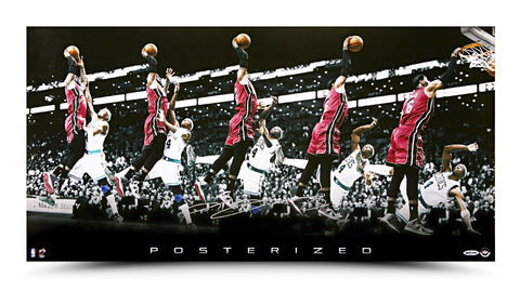 LeBron James Autographed Posterized Photo