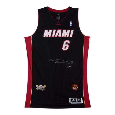 LeBron James Signed 2013 Dual Patch Miami Heat Authentic Jersey