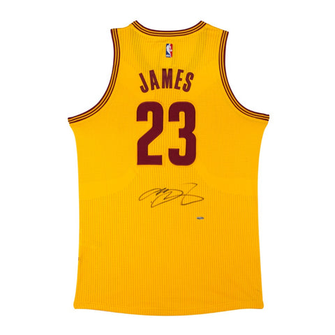LeBron James Signed Cleveland Cavaliers Authentic Adidas Alternate Jersey