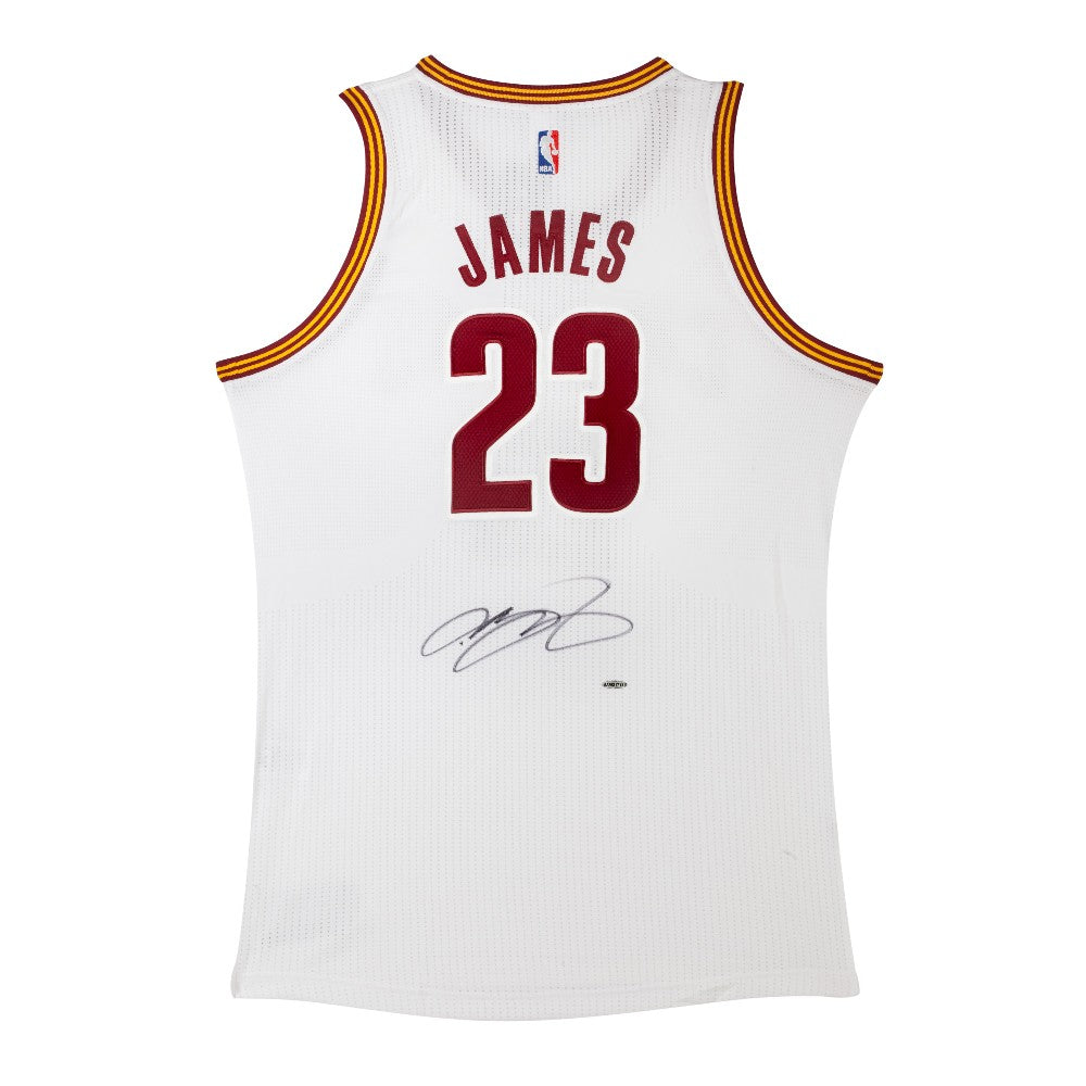 a8145d4db LeBron James Signed Cleveland Cavaliers Authentic Adidas Home Jersey – Super  Sports Center