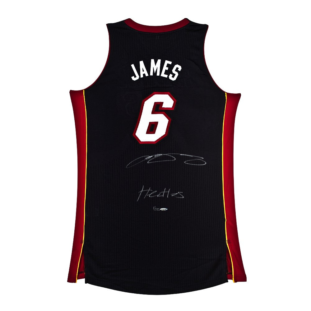 wholesale dealer 2cfc3 65d15 LeBron James Signed & Inscribed Miami Heat Authentic Away Jersey
