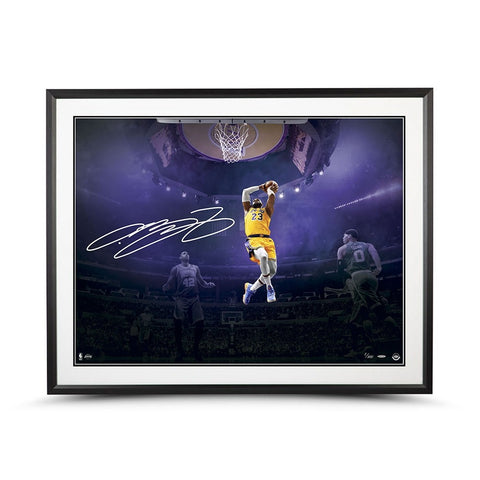 "LEBRON JAMES AUTOGRAPHED ""ON THIS OCCASION"" 40X30 FRAMED"