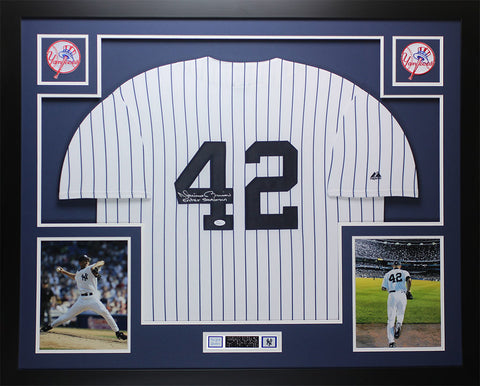 Mariano Rivera Autographed and Framed P/S Yankees Sandman Jersey JSA COA (D1-L)