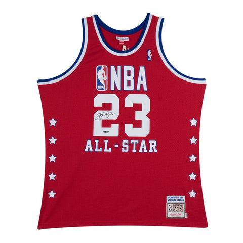 Michael Jordan Signed 1989 Red All-Star Jersey