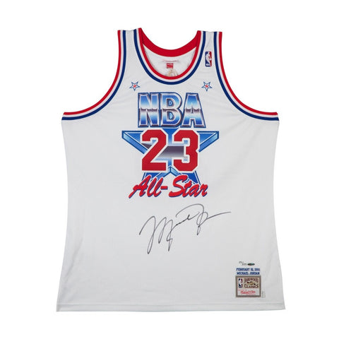 Michael Jordan Autographed 1991 NBA All-Star Game Mitchell & Ness Jersey