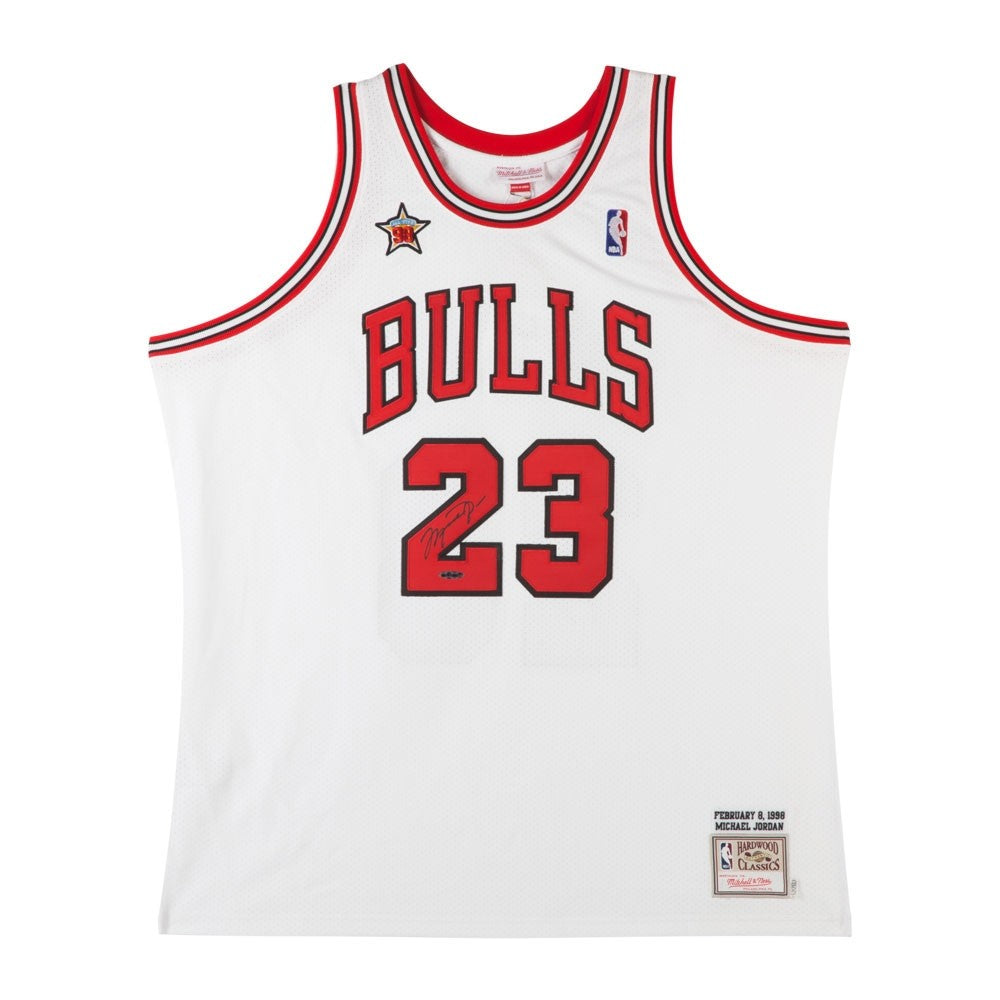 separation shoes 4c369 72f68 Michael Jordan Autographed 1998 NBA All-Star Game Chicago Bulls Mitchell &  Ness Jersey