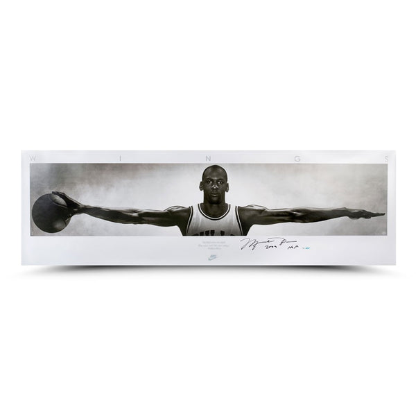 "Michael Jordan Autographed & Inscribed ""Wings"" Print"