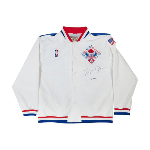 Michael Jordan Autographed Mitchell & Ness 1991 NBA All-Star Game Warmup Jacket
