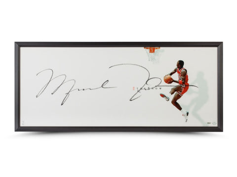 Michael Jordan Autographed The Show II 46x20 Framed
