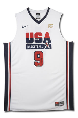 Michael Jordan Signed & Inscribed Nike 1992 Olympic Basketball Jersey