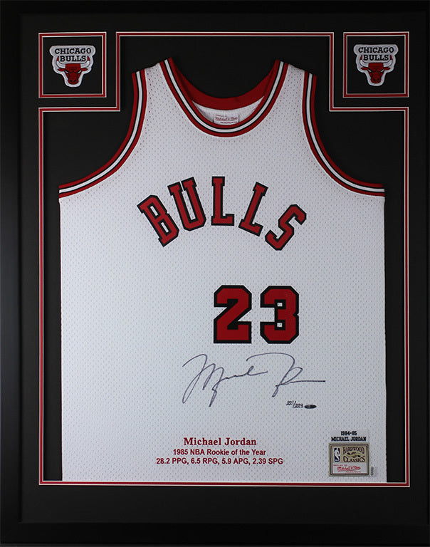 official photos 957a6 da1a7 Michael Jordan Autographed & Framed Red Bulls Jersey Auto Upper Deck COA D16