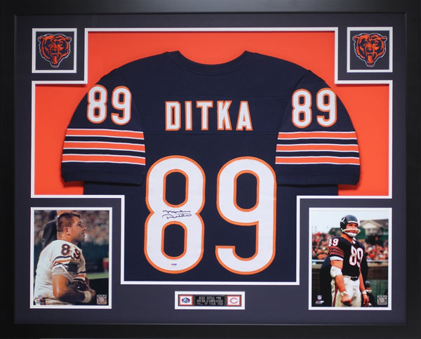 8336a05cd35 Mike Ditka Autographed and Framed Blue Bears Jersey Auto PSA COA (D1 ...