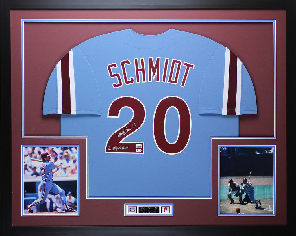 Mike Schmidt Autographed 80 NL WS MVP   Framed Phillies Jersey Fanatic –  Super Sports Center afb19133bed