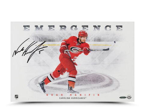 Noah Hanifin Autographed Emergence 11 x 17 Photo