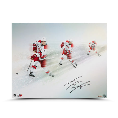 "Noah Hanifin Autographed ""Wind Up"" 16 x 20"