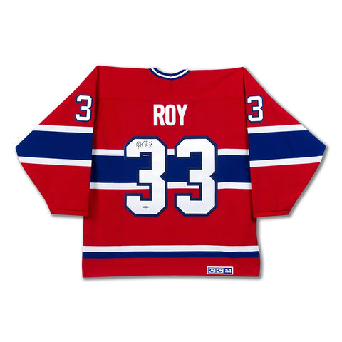 Patrick Roy Autographed Authentic Heroes of Hockey Red Montreal Canadiens Jersey