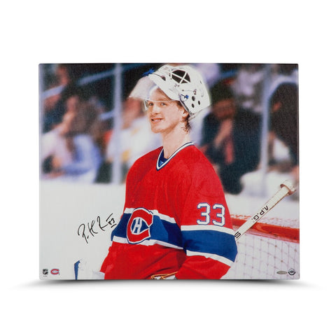 "Patrick Roy Autographed ""Beginnings"" 20 x 24 Canvas"