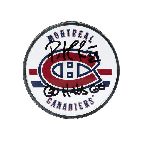 Patrick Roy Autographed & Inscribed Montreal Canadiens Acrylic Puck