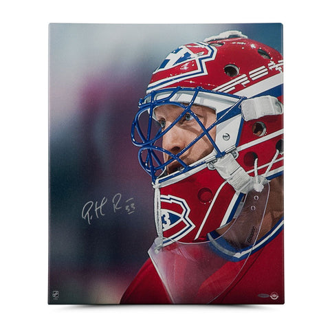 "Patrick Roy Autographed ""Up Close & Personal"" 20 x 24 Canvas"