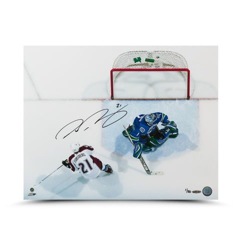 "Peter Forsberg Autographed ""Back of the Net"" 16 x 20 Photo"