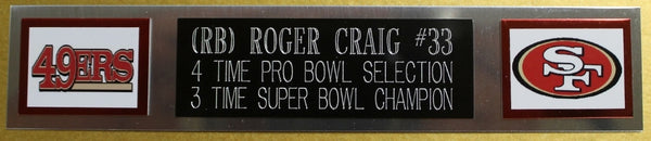 5afec3be783 Roger Craig Autographed and Framed Red 49ers Jersey Auto JSA Certified