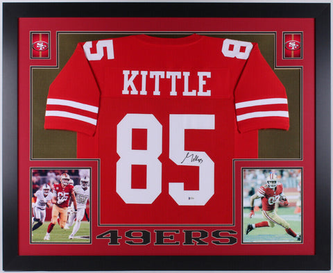 George Kittle Signed San Francisco 49ers 35x43 Framed Jersey